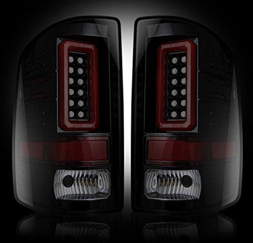 Gmc Sierra Recon Led - Recon 264239BK GMC Sierra 14-15 1500 (Fits 3rd GEN Single-Wheel ONLY) LED TAIL LIGHTS - Smoked Lens