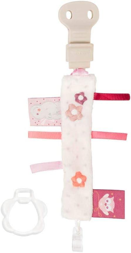 Nattou Attache-T/étine Souris Valentine Pour Tous les Mod/èles Rose 7 x 6 x 6/cm Ad/èle et Valentine