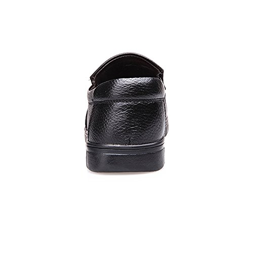 Nuovo Pelle Nero Perforazione Scarpe da Mocassini Soft Opzionale Flat 2018 on Vera Uomo Slip on in Slip Classiche 6pTdxw