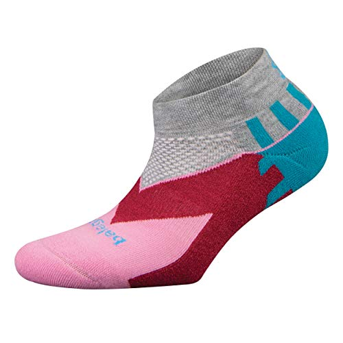 Balega Women's Enduro V-Tech Low Cut Socks , Grey/Pink, Smal