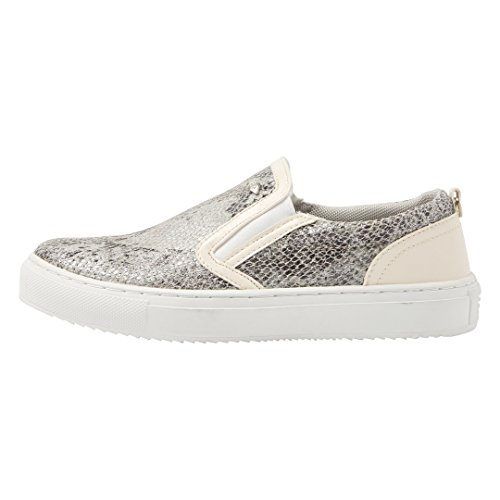Chip Cassé Mocassins British Knights Beige blanc Femme Serpent 5ZBZaOxqw
