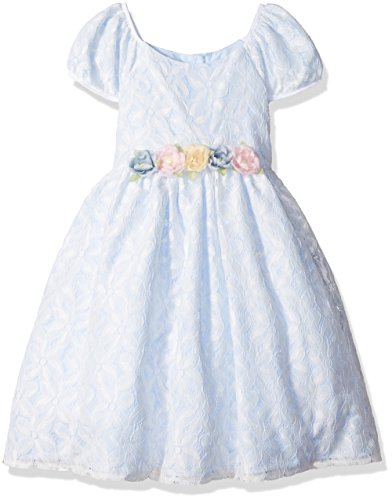 Laura Ashley London Toddler Girls' Sweet Lace Dress, White/Blue, 2T -