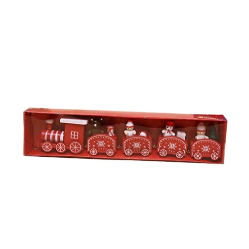 Xmas Calendars (Aurorax Christmas Xmas Calendar Wooden Train Ornaments Model,Engineering Toys Best Gift for Kids (Red))
