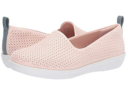 (CLARKS Women's Ayla Blair Ballet Flat, Light Pink Synthetic Nubuck, 120 M)