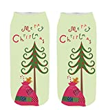 3D Unisex Pgojuni Christmas Funny Fashion Printed Casual Socks Cute Low Cut Ankle Socks 1PC (F)