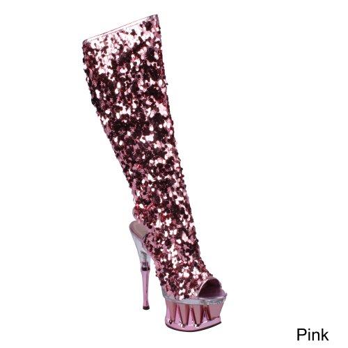 Pleaser - Botas mujer, color rosa, talla 40