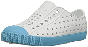 Native Kids Jefferson Water Proof Shoes, Shell White/Surfer Blue, 11 Medium US Little Kid