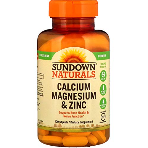 (Sundown Naturals Calcium, Magnesium and Zinc High Potency, 100 Caplets-3)