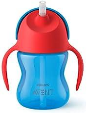 Philips Avent Sugrörsmugg - Stör inte tändernas utveckling* - Spillfri ventil som förhindrar läckage - Lämplig från 9 m+ - Rymmer 200ml - Tål maskindisk - BPA fri - Blå/Röd - SCF796/01