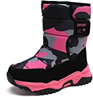 YUKTOPA Kids Snow Boots Boys Girls Slip On Non-Slip Waterproof Outdoor Shoes Boots Cold Weather Shoes(Toddler/
