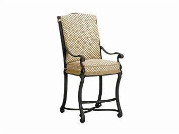 Exceptionnel Landgrave Villa Cast Aluminum Cushion Arm Patio Counter Stool