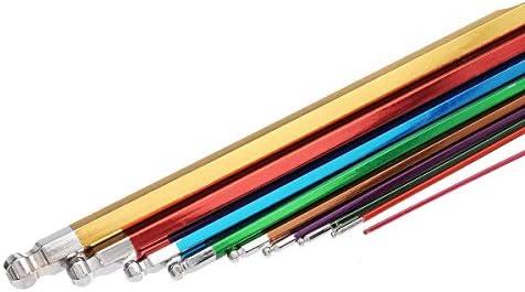 ハードウェアツール 実用的 9個L形六角キーセット六角レンチ1.5ミリメートル2ミリメートル2.5ミリメートル3ミリメートル4ミリメートル5ミリメートル6ミリメートル8ミリメートル10ミリメートル。