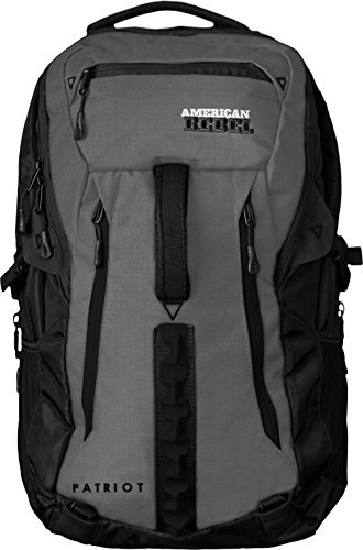 Concealed Backpack Holster for Men and Women, American Rebel X-Large Freedom Concealed Carry Backpack - Grey/Black