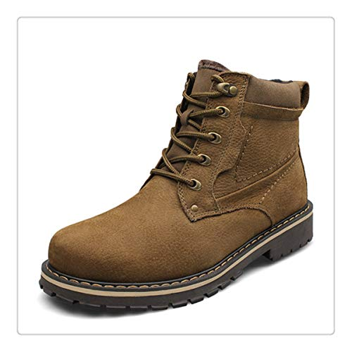 Earnest Autumn Winter Adult Teenagers Fashion Leather Outdoor Army Boots Mens Military Boot Casual Canvas Shoes Male Combat Sneaker Men's Boots Shoes
