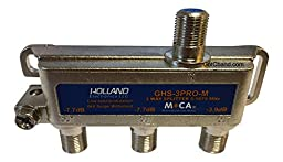 Holland Electronics 3-Way Splitter MOCA Compliant 5-1675Mhz