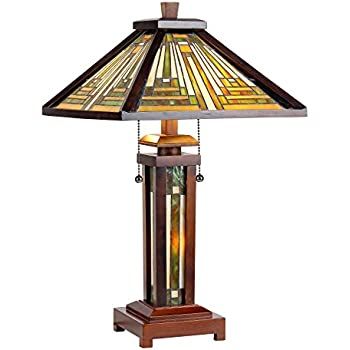 Walnut Mission Collection Rustic Table Lamp With