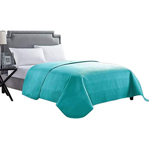 HollyHOME Solid Color Bed Quilt Coverlet 86