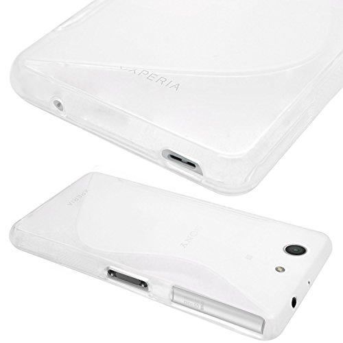 7de60f989f Amazon   【ノーブランド品】ドコモ Xperia Z3 Compact TPU グリップカバーケース docomo SO-02G 対応  Xperia Z3 Compact, Design S Clear (透明)   ケース・カバー ...