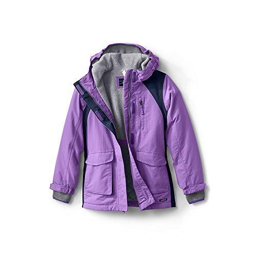 Girls Ski Parka - Lands' End Girls Squall Waterproof Winter Parka, M, Violet Lavender