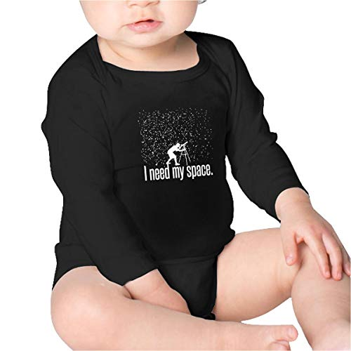 I Need My Space Baby Cotton Bodysuit Long Sleeve,Toddler Crawl Walk - Crawl Jumpsuit Space
