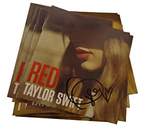Amazon.com: Taylor Swift Signed Red Cd Insert Cover ...