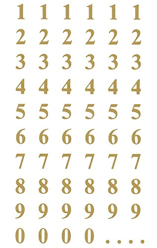 scrapbooking numbers gold - 8