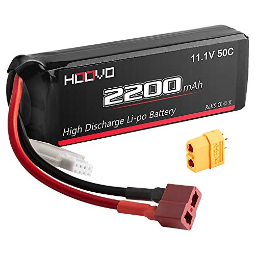 HOOVO 3S 11.1V 2200mAh 50C Lipo Battery Pack with Deans Connector and XT60 Plug for RC Helicopter Airplane Quadcopter UAV Drone FPV