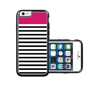 RCGrafix Brand Fushica & Black Stripes iPhone 6 Case - Fits NEW Apple iPhone 6