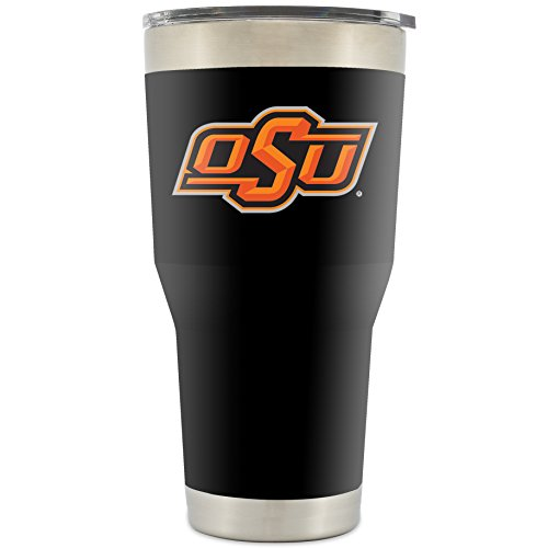 Simple Modern Oklahoma State University 30oz Cruiser Tumbler - Vacuum Insulated Double Walled 18 8 Stainless Steel Travel Mug - OSU Cowboys Licensed College Tailgate Coffee Cup - Powder Coated Black