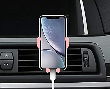 RYJOXZS Car Cell Phone Holder Cute Navigation Stand 360 Degree Rotation Big Head Bracket 4-7 inch Screen is Available Pink