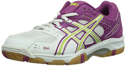 Asics Women's Gel-Task Volleyball Shoes White/Silver/Fuchsia iFQoNvtqIp