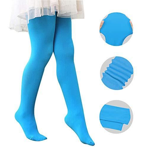 Century Star Ballet Dance Tights Footed Ultra-Soft Kids Super Elasticity School Uniform Tights For Girls 1 Pack Blue -