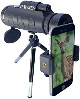 High Powered, Compact Monocular Telescope 10X42 Zoom with Dual Focus Spotting Scope and Low Night Vision. Includes Phone Adapter Tripod. For Birding, Hunting, Hiking, Camping, Sports and Surveillance