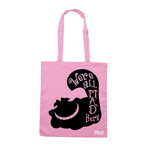 Borsa STREGATTO ALIVE WE ARE ALL MAD HERE - Rosa - FILM by Mush Dress Your Style