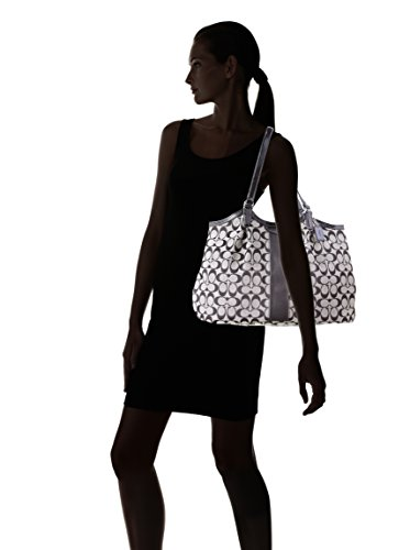 Tote Signature Coach Women's 28503 Stripe Bag Devin Handbag ASSInPxqUw