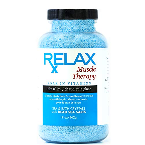 Relax Muscle Aromatherapy Best Bath Salts, 19 Ounce Bottle, Natural Infused Crystals with Dead Sea Salts for Soaking Aches, Pains, and Stress Relief, Safe for Spa, Bath, and Whirlpool