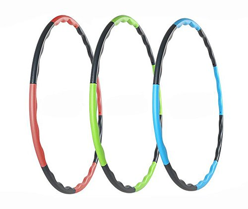 Hula Hoop for Fitness, 8-segmented, Workout for Students and Kids, Exercise, Weight Loss and Perfect Body (Red)