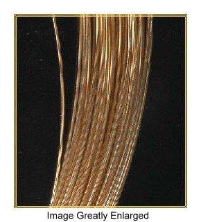 uGems 14kt Gold Jewelry Wire Hard 30 Gauge 14k 6 Inch by uGems