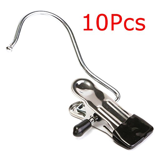 Vivona Hardware & Accessories 10Pcs Stainless Steel Clothes Coat Hanger Clips for Home Travelling Laundry by Vivona