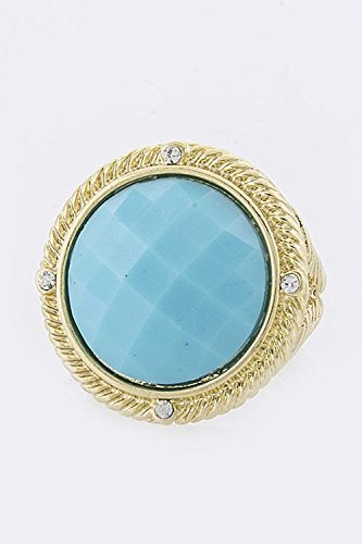 BAUBLES & CO ROUND COLOR CRYSTAL RING (Blue) (Tacori Prices Ring)