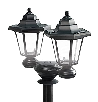 IdeaWorks 7849 3 in 1 LED Wall Light, Small Pathway Light, or Lamp Post, Black