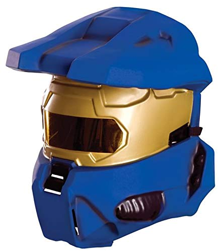 Halo Universe Spartan Half-Mask, Blue, One Size -