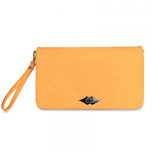 CASPAR Fashion - Cartera de mano para mujer Amarillo - amarillo