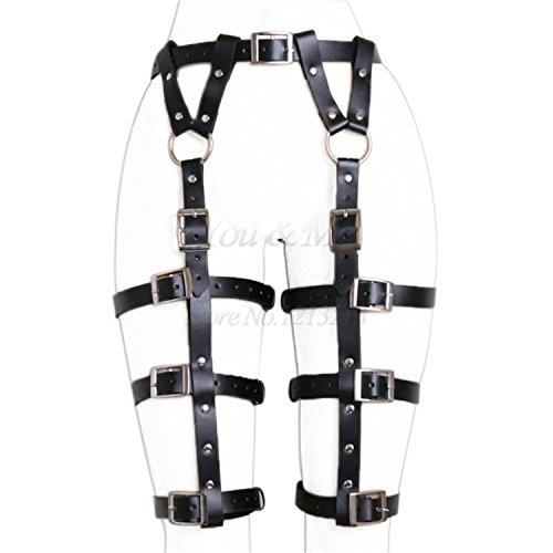 CODPZ SHIRTS BDSM Women Harness Body Belts Sexaay Garters Bondage Belt Punk Strap Band from Waist to Leg Adjustable Suspender Straps adulllt Sexaa Toys,Type 2,