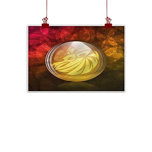 Sunset glow Canvas Prints Wall Art Astrology,Snow Globe Zodiac Sign 36