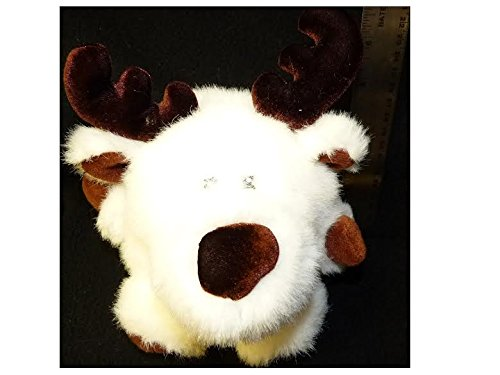 Sears Windsor Collection White Bear Reindeer Plush Stuffed Animal Soft Toy