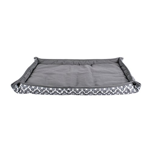 DII Bone Dry Reversible Lattice Kennel & Crate Corner Snapping Pet Mat, 17x22x2