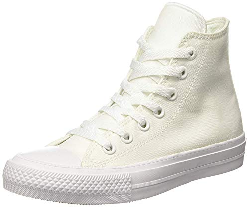 Converse Chuck Taylor II Hi Unisex Casual Sneakers, Size 7.5, Color White