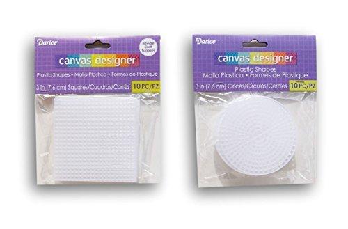 (Darice Plastic Canvas Circle and Square Set - 3 Inch - 20pc)