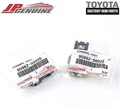 New Battery Terminal Set 90982-05035 90982-06022 + - Genuine OEM Toyota
